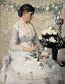 'Flora (Carrie Mansfield Weir)' by Julian Alden Weir, 1882.jpg