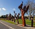 'Is Man an Ape or Angel?' sculpture in Addington, Christchurch, New Zealand 12.jpg