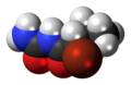 (R)-Bromisoval molecule spacefill.png