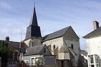 Avrillé-les-Ponceaux - The church of Saint-Aubin, in Avrillé-les-Ponceaux