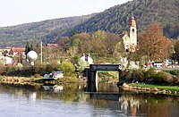 Štěchovice, pohled z mostu k ústí Kocáby (02).jpg
