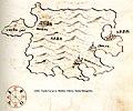 Χάρτης της νήσου Ραμπ στην Κροατία - Antonio Millo - 1582-1591.jpg