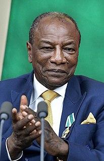 Alpha Condé President of Guinea in Africa (2010–2021)