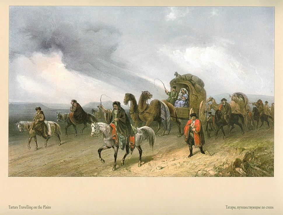 Карло Боссоли. Татары, путешествующие по степи