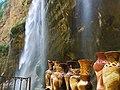 Произведения местного искусства в брызгах Чегемского водопада. Кабардино-Балкария.jpg