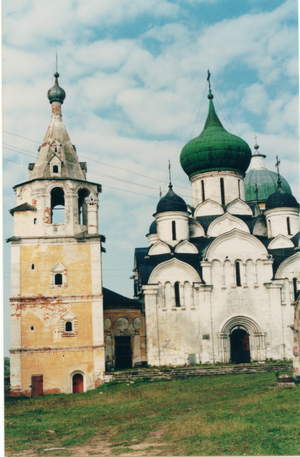 Staritsa (town), Tver Oblast - Church of the Dormition in Dormition monastery