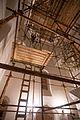 Художник Юрий Африн поднимается для росписи шатрового купола собора Спаса Преображения.jpg