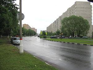 Reutov - Yubileyny Avenue in Reutov