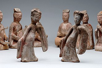 History of Chinese dance - Figurines of dancers from the Northern Qi dynasty.