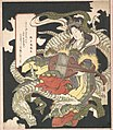騎龍弁財天-Benzaiten (Goddess of Music and Good Fortune) Seated on a White Dragon MET DP135895.jpg
