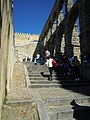 -2014-04-17 Steps up to the Aquaduct, Segovia, Spain.JPG