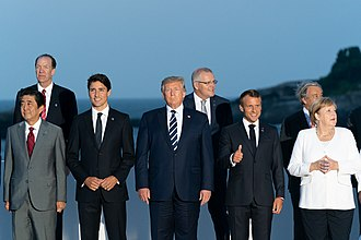 President Donald Trump and his Western allies from G7 and NATO. -G7Biarritz (48622981642).jpg