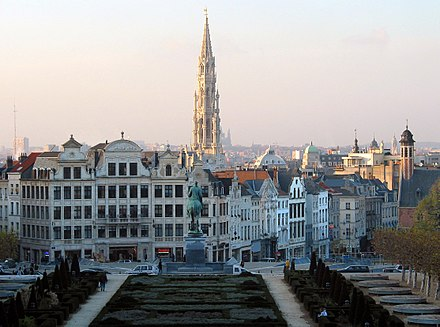 Brussels, the capital city and largest metropolitan area of Belgium 00 Bruxelles - Mont des Arts.jpg