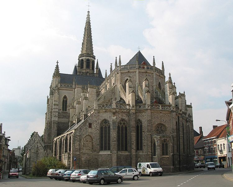 Wervik (Belgium), the St. Medardus' church (1380-1440).