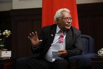 Ajilon Jasper Nasiu - Image: 01.31 總統接見「索羅門群島國會議長納許伉儷訪問 團」 (28218142519)