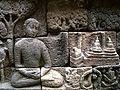 011 Jataka Level 1 Bottom, Meditating near Chaityas.jpg