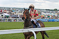 025 Epsom Derby Day - Investec Dash - Silvanus and Richard Hughes going to post (18562835176).jpg