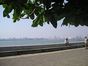 Nariman Point - 'Near the Sea wall at Nariman point, one can relax(2012)'