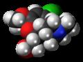 1-Chlorocodeine molecule spacefill.png