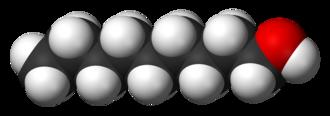 1-Nonanol - Image: 1 Nonanol 3D vd W