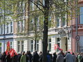 1. Mai 2013 in Hannover. Gute Arbeit. Sichere Rente. Soziales Europa. Umzug vom Freizeitheim Linden zum Klagesmarkt. Menschen und Aktivitäten (133).jpg