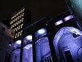 105 Palau Reial Major, plaça del Rei, durant el festival Llum BCN.JPG