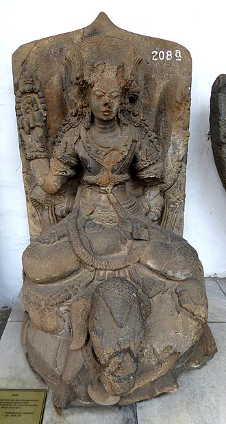 Agni - Agni seated on a ram, 14th–15th century Indonesia.