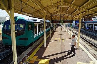 Goshogawara Station - Image: 140914 Goshogawara Station Goshogawara Aomori pref Japan 05n