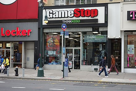 A combined GameStop–ThinkGeek store in New York City in 2019