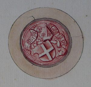 Norwegian heraldry - Image: 1524 biskop Oskuld i Stavanger