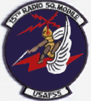315th Cyberspace Operations Squadron - Image: 15 Radio Squadron, Mobile emblem