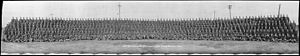 173rd Battalion (Canadian Highlanders), CEF - Group photo of 173rd Battalion at Camp Borden in 1916