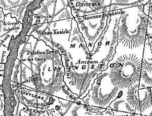 1779 map of Livingston Manor and neighboring c...