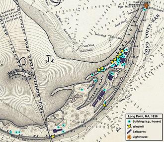 Long Point (Cape Cod) - Image: 1836 Provincetown Long Point US Topo Bureau