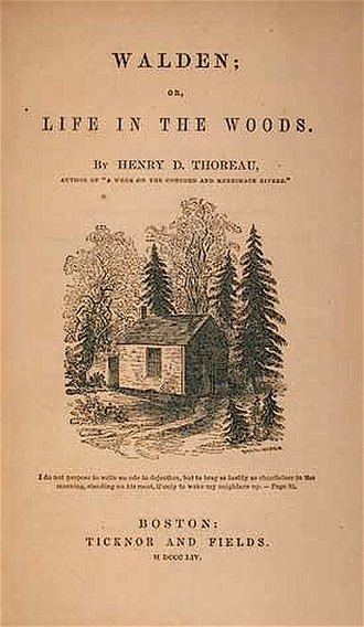 Ticknor and Fields - Image: 1854 Walden by Thoreau