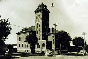 Lane County Courthouse in Eugene, built in 1898 and demolished in 1959.[1]