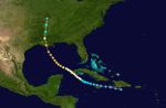 1909 Atlantic hurricane 9 track.png