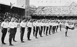 Gymnastics at the 1912 Summer Olympics – Men's team - Image: 1912 Italy gymnastics team