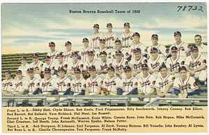 1948 Boston Braves season - Postcard showing the team.