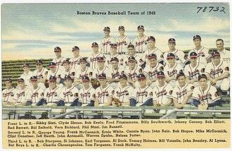 1948 Boston Braves season - Postcard showing the team.