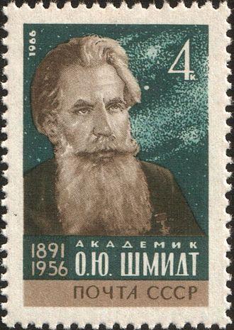 Otto Schmidt - A soviet stamp dedicated to Otto Schmidt