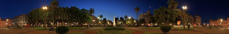 Panorámica de la Plaza de Mayo