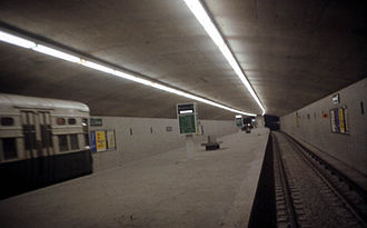 Belmont station (CTA Blue Line) - The station on opening day, February 1, 1970