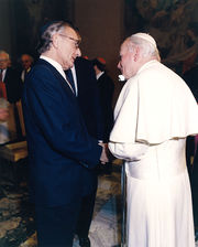 1990-Dec. 6 - Vatican-IJCIC Meeting, Rabbi Tanenbaum Pope JP II