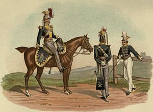 19th Light Dragoons - Officers of the 19th Lancers, 1818