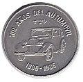 1 песо. Куба. 1986. 100 лет автомобилям.jpg