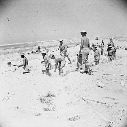 British troops dig in at El Alamein during the battle, 4 July 1942 1stElAlamein1.jpg
