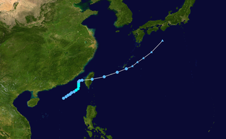 1950 Pacific typhoon season - Image: 2 W 1950 track