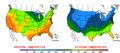 2002-10-08 Color Max-min Temperature Map NOAA.png