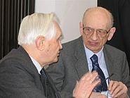 20050314 Wladyslaw Bartoszewski and Stefan Wilkanowicz by Kubik